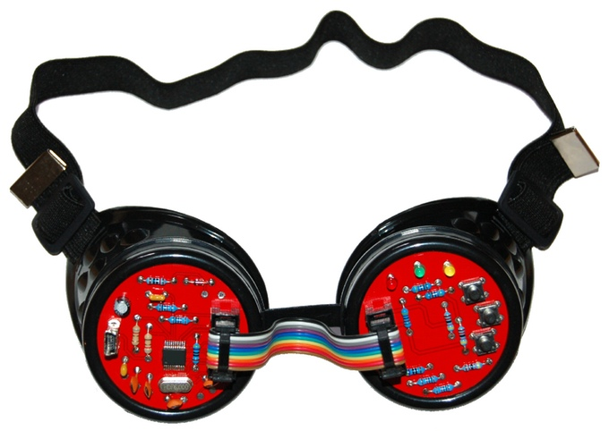 """The """"electronic Light Scape"""" Goggles in BLACK :)"""