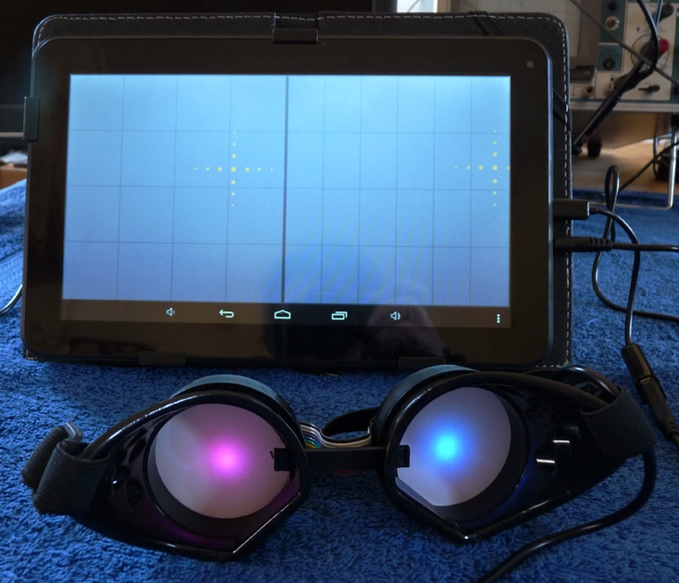 "The MIDI Goggles ""thumb operated"" from a Tablet device"